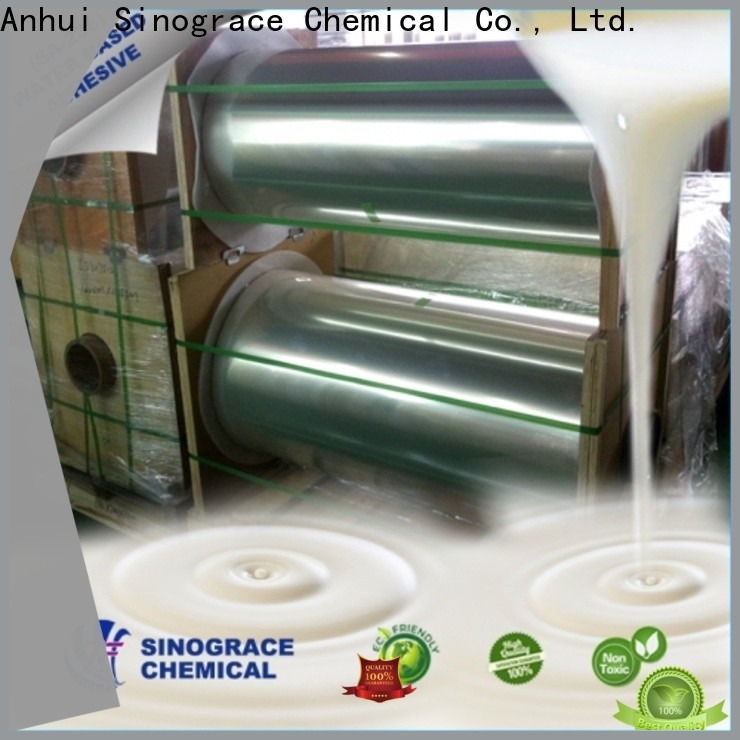 Sinograce Chemical non toxic water based polymers supplier for making