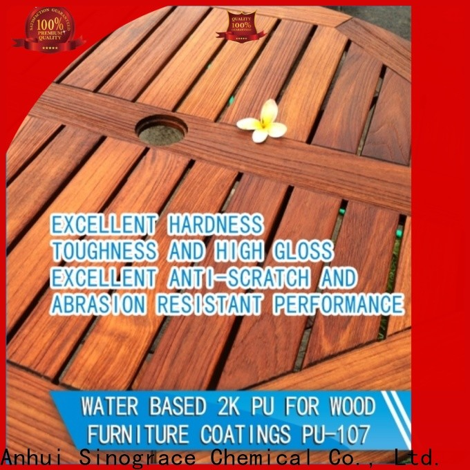 Sinograce Chemical non toxic best water based polyurethane for furniture for sale for furniture