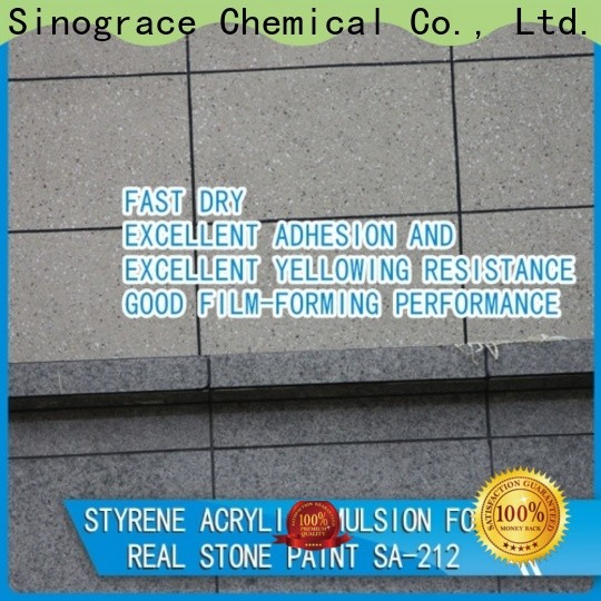 Sinograce Chemical styrene acrylic resin manufacturers manufacturers for wall