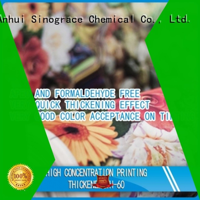 Sinograce Chemical eco-friendly textile printing thickener manufacturer supplier for chemical
