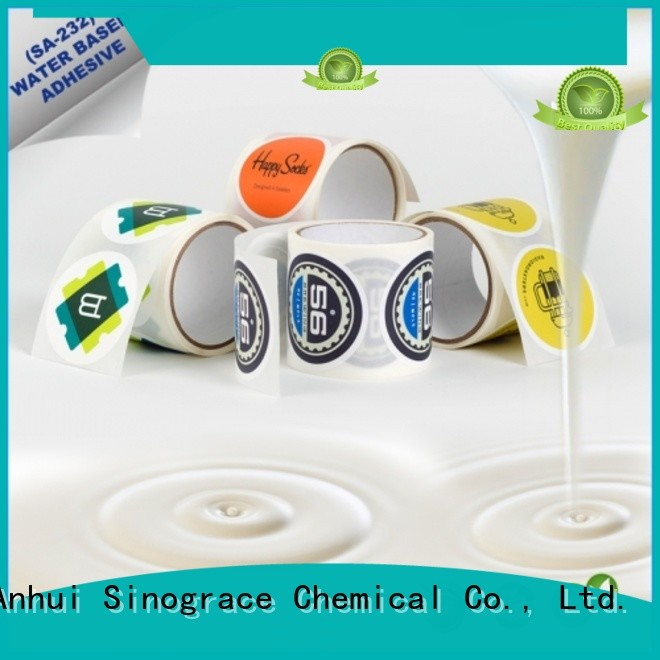 Sinograce Chemical clear pressure sensitive vinyl adhesive for sale for tape