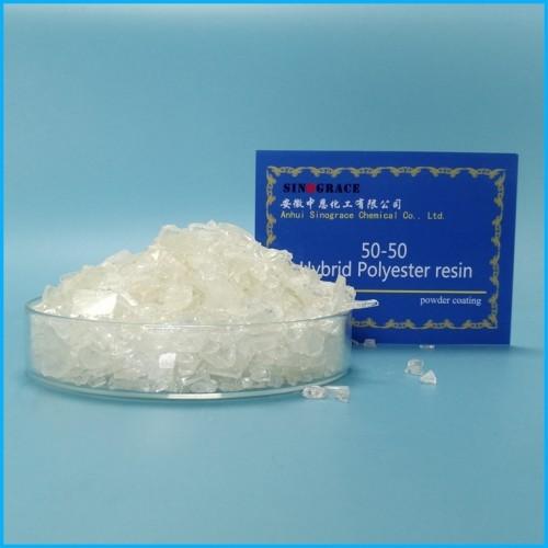 50-50 Hybrid Polyester Resin For Powder Coating