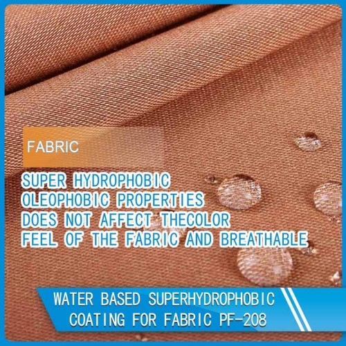 Nano Coatings Water and oil-repellent coating for fabric PF-208