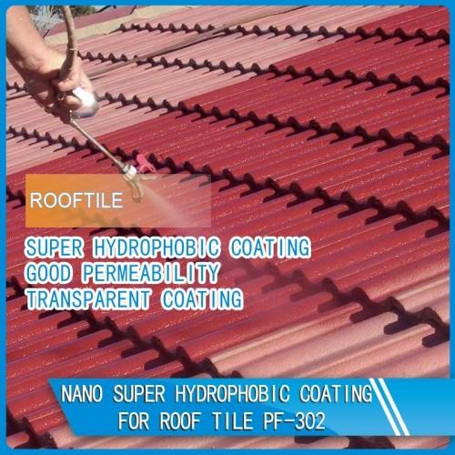 Nano Super Hydrophobic Coating for concrete / Roof tile / Stone / Wood etc PF-302