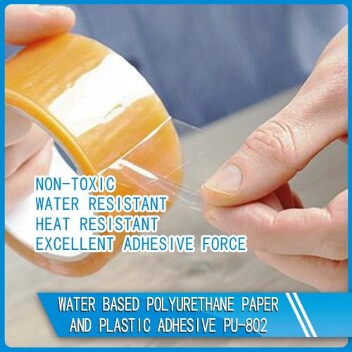 Water Based Polyurethane Paper And Plastic Adhesive PU-802
