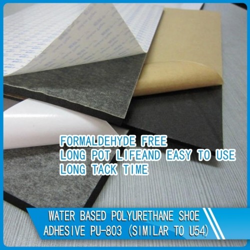 Water Based Polyurethane Shoe/ Textile Adhesive PU-803 (Similar To U54)
