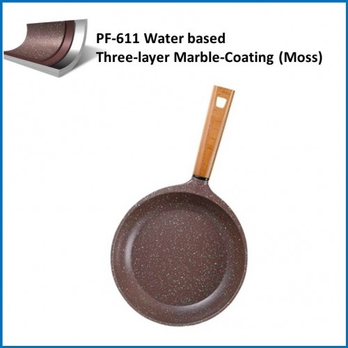 ptfe coatings / water based three-layer marble-coating (MOSS) PF-611