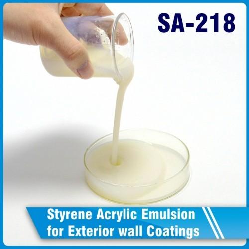 SA-218Styrene Acrylic Emulsionfor Exterior wall Coatings