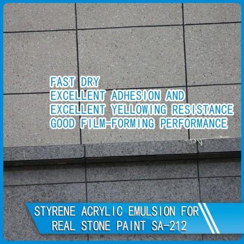 SA-212 Styrene Acrylic Emulsion for Real Stone Paint
