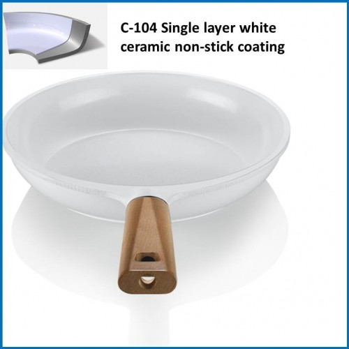 Ceramic Coatings/Single Layer White Ceramic Non-Stick Coating C-104