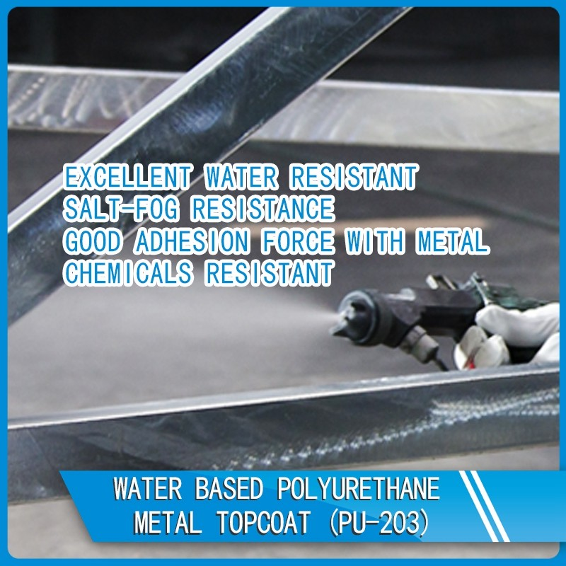 PU-203 Water based polyurethane metal topcoat