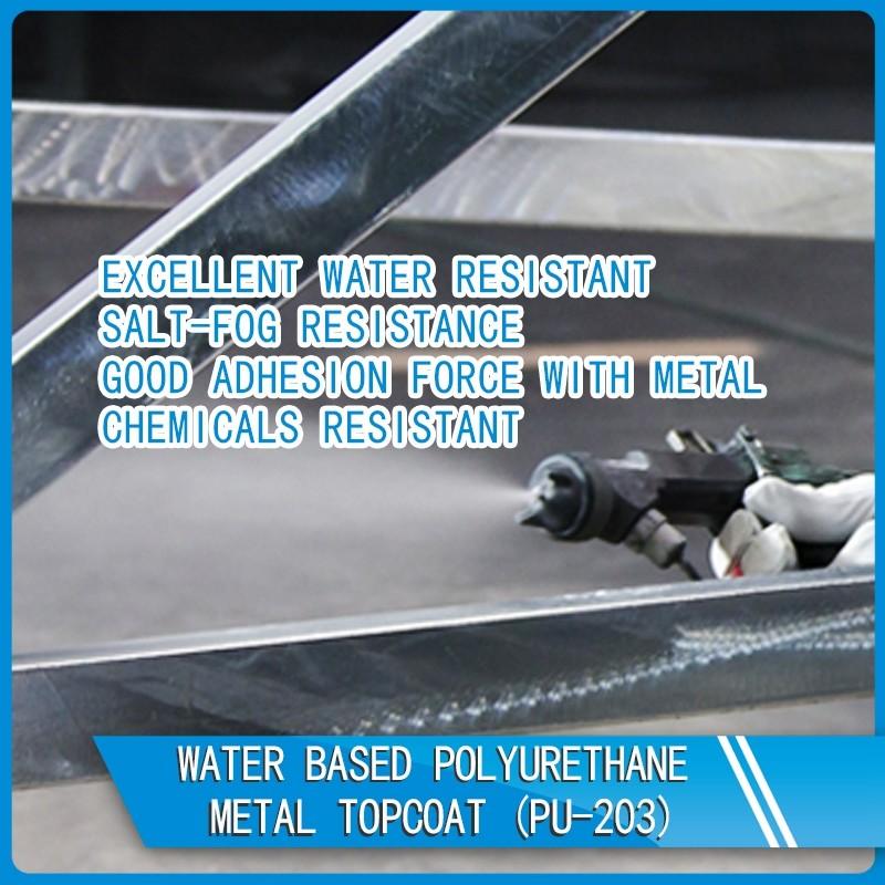 PU-203 Water based polyurethane metal topcoat