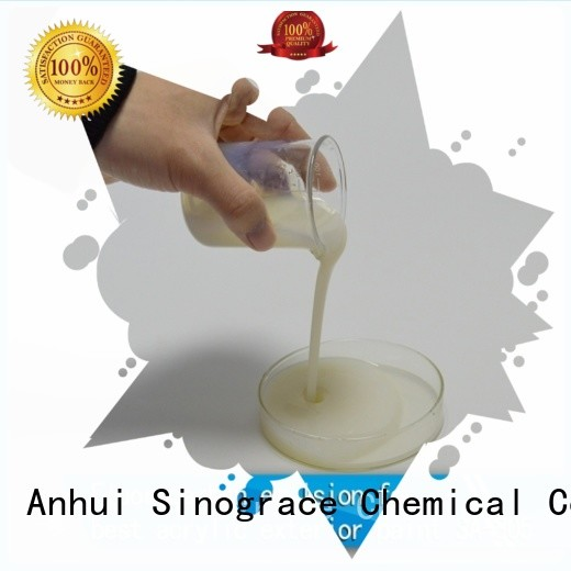 Sinograce Chemical styrene acrylic copolymer emulsion manufacturers suppliers for wall