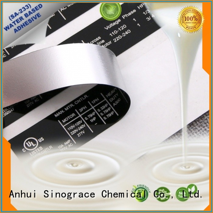 pressure sensitive vinyl adhesive manufacturer for glue Sinograce Chemical