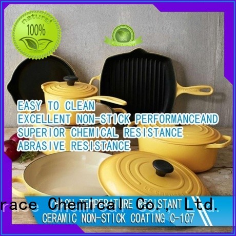 Sinograce Chemical eco-friendly ceramic pan price for material