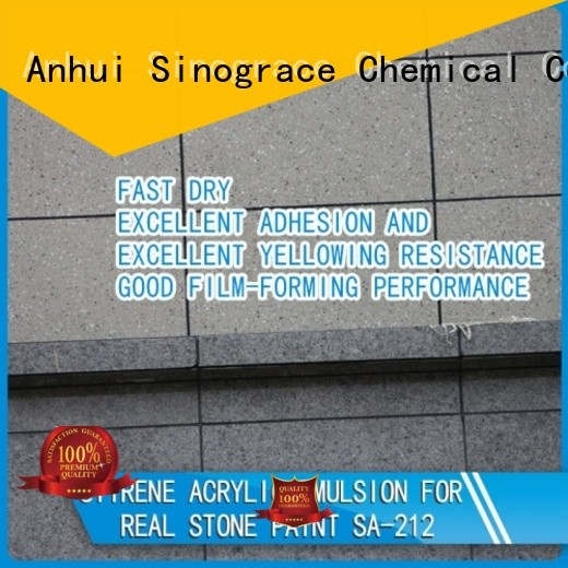 Sinograce Chemical waterproof styrene acrylic copolymer emulsion manufacturers manufacturers for wall