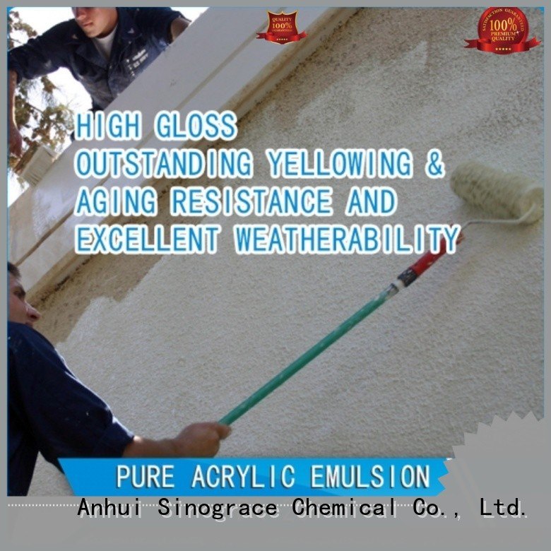Sinograce Chemical non toxic styrene acrylic copolymer emulsion manufacturers manufacturers for chemical