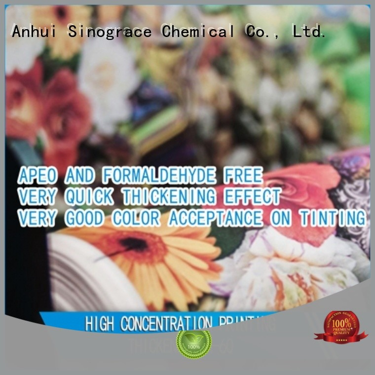 Sinograce Chemical textile printing thickener manufacturer for sale for making