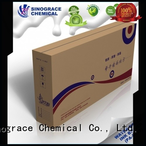 Sinograce Chemical eco-friendly paper ink binder for sale for carpet