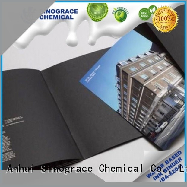 Sinograce Chemical eco-friendly paper ink binder manufacturer for carpet