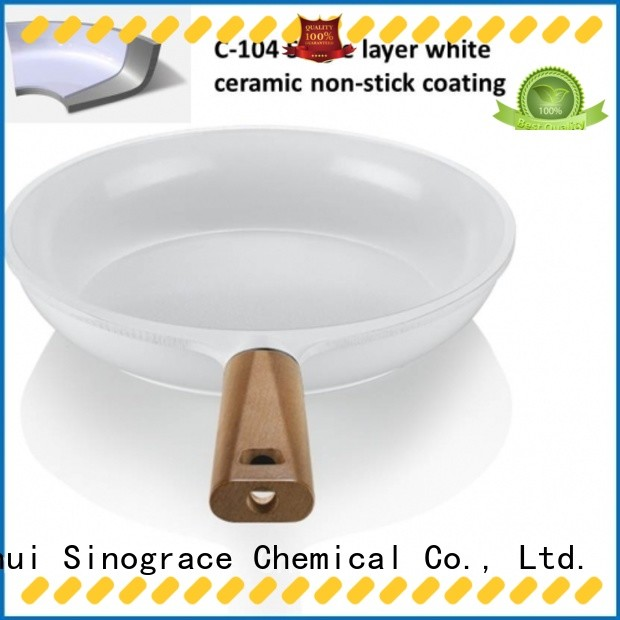 Sinograce Chemical eco-friendly ceramic non stick frying pan supplier for making