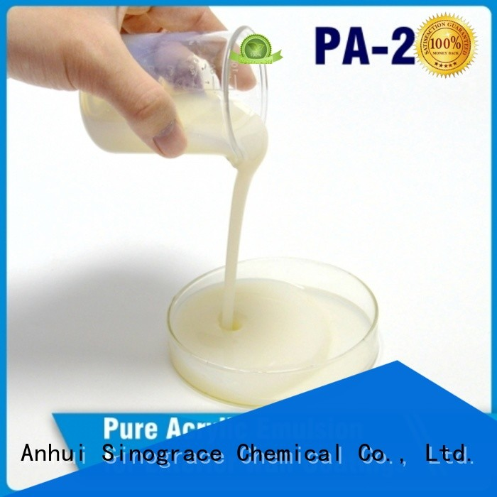 Sinograce Chemical waterproof styrene acrylic emulsion polymerization manufacturers for wall