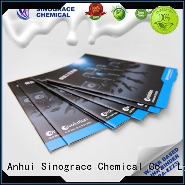 Sinograce Chemical non toxic water based white paint for sale for tape