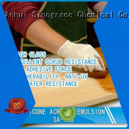 Sinograce Chemical non toxic styrene acrylic copolymer emulsion manufacturers manufacturers For Primer