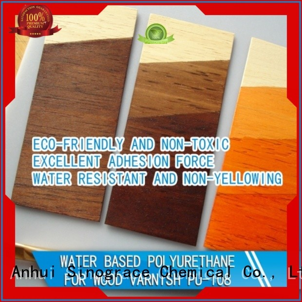Sinograce Chemical best water based polyurethane for furniture supplier for wood floors