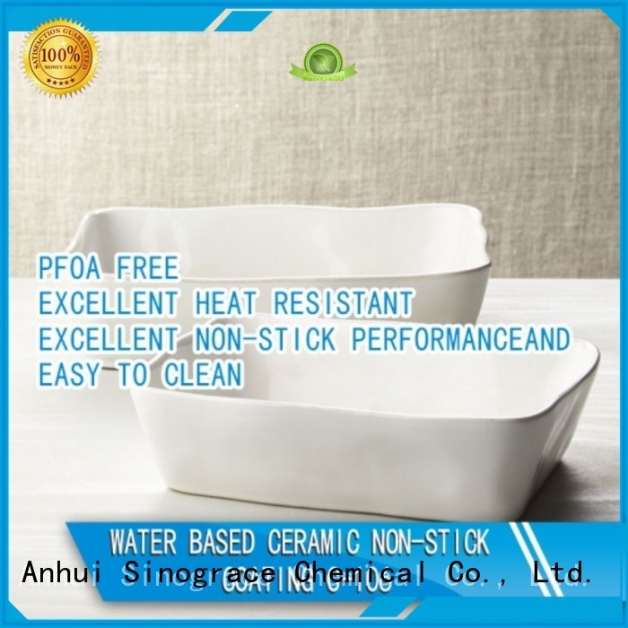 Sinograce Chemical clear ceramic non stick frying pan supplier for material