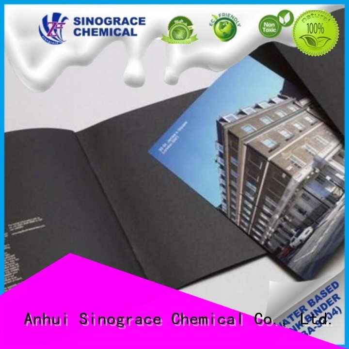 Sinograce Chemical non toxic paper ink binder manufacturer for glue
