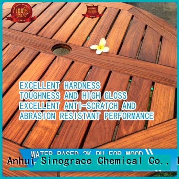 Sinograce Chemical eco-friendly best water based polyurethane for hardwood floors manufacturer for wood floors