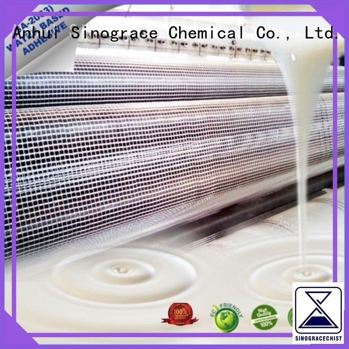 Sinograce Chemical water based acrylic adhesive manufacturers glue for textile