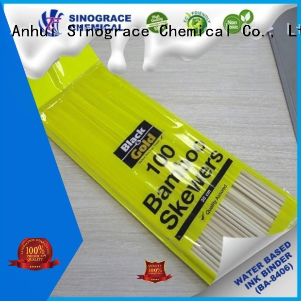Sinograce Chemical water-based acrylic emulsion for sale for fabric